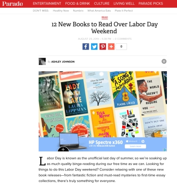 PARADE: 12 New Books To Read Over Labor Day Weekend